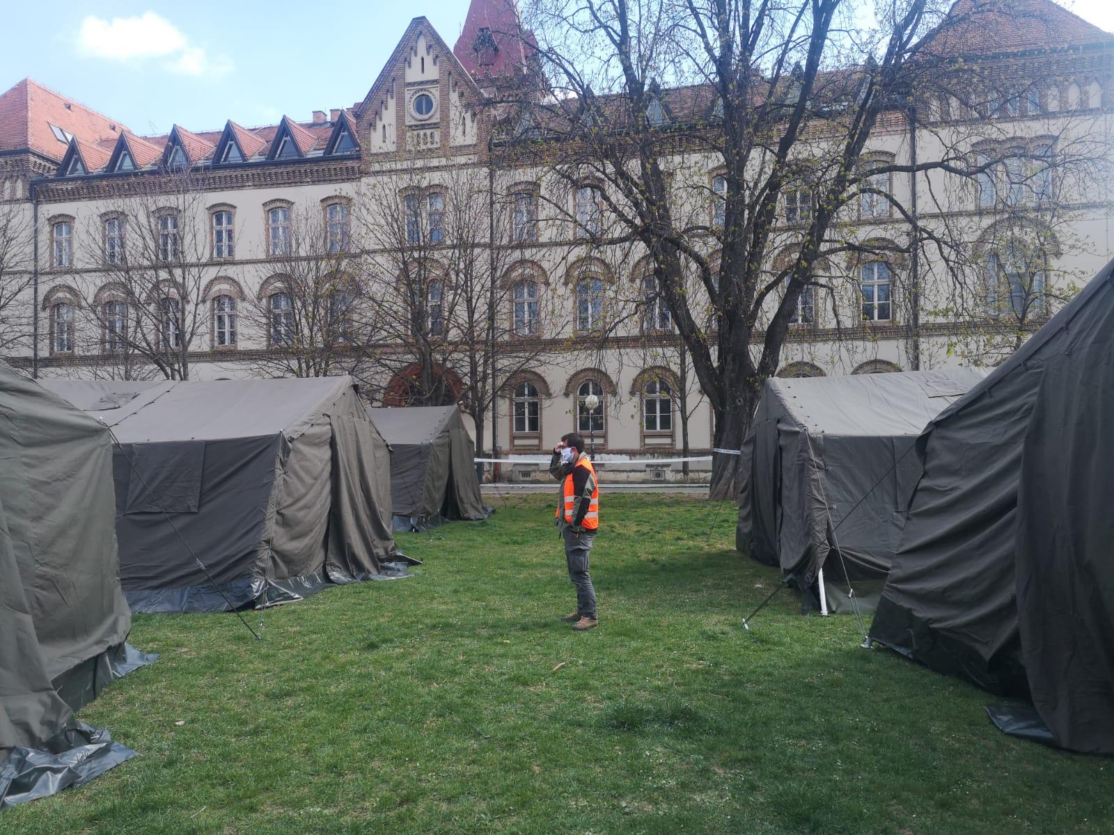 Šatorsko naselje u centru Zagreba
